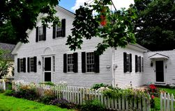 Hancock, NH: 1824 Village Home Royalty Free Stock Images