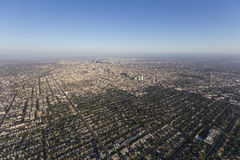 Hancock Park and Downtown Los Angeles Aerial Stock Images