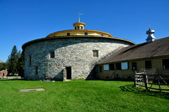 Hancock: Shaker Village Round Stone Barn Stock Photo