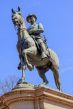 Hancock Statue Civil War Memorial Washington DC. General Winfield Scott Hancock Equestrian Statue Civil War Memorial Pennsylvania Avenue Washington DC.  Created Stock Photos
