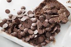 hancrafted巧克力的成份 免版税库存图片
