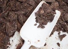 hancrafted巧克力的成份 免版税库存照片