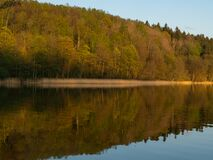 Free Hancza Lake, The Deepest Lake Of The Poland. Sunny Day, Late Afternoon, Sky Reflecting In The Water. Royalty Free Stock Photography - 182744477