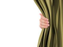 Handöffnungs-Vorhang stockbild