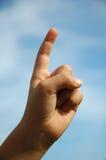 Hand één vinger Stock Afbeelding