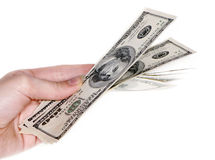 Hand with $100 banknotes Royalty Free Stock Photography