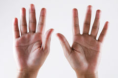 Hand. Two hands-sign of ten Stock Images
