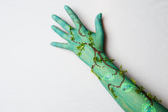 Hand. A hand painted as a tree or branch of a tree Royalty Free Stock Photos