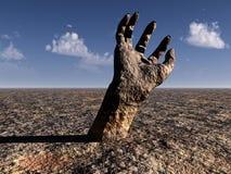 Hand 2 van de steen stock illustratie