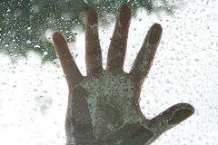 Hand. On the rain Royalty Free Stock Photos