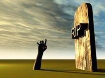 Hand 21 van het kerkhof Stock Foto