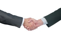 Hand. Business team hand shake. Isolated on white background, with clipping path included royalty free stock photo