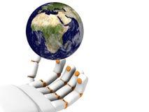 Hand 3d und Erde Lizenzfreies Stockbild