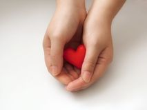 Hand. Heart Royalty Free Stock Photo