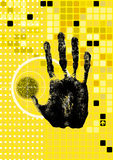 Hand. Isolated human hand print(made by me Royalty Free Stock Image