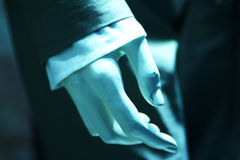 Hand. Of a mannequin in a business suit Royalty Free Stock Photo