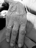 Hand. Old hand of my grandmother Royalty Free Stock Photos