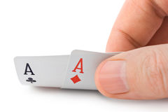 Hand and aces Stock Image