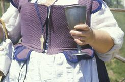 Hand of Actress Holding Goblet at Renaissance Faire, Agoura, California Royalty Free Stock Photography