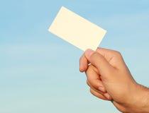 In hand adreskaartje Stock Fotografie