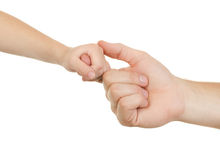 Hand adult and child Stock Image