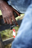 Hand of an African with car keys Stock Images