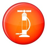 Hand air pump icon, flat style Royalty Free Stock Photos