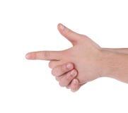 Hand als Gewehr Stockbild