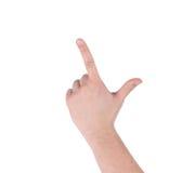 Hand als Gewehr Stockbilder