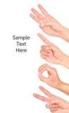 Hand als symbool wordt gebruikt dat. Stock Foto's