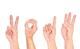 Hand als symbool wordt gebruikt dat. Stock Foto