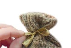 Hand & gift. geïsoleerdl op witte achtergrond Royalty-vrije Stock Foto