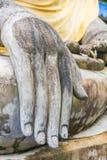 Hand of an ancient Buddha image at Ayutthaya temple, Thailand Stock Photo