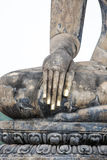 Hand of an ancient Buddha image Royalty Free Stock Photography