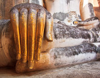 Hand of ancient buddha statue at Wat Si Chum Royalty Free Stock Photography