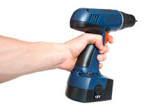 Hand And Drill Royalty Free Stock Images
