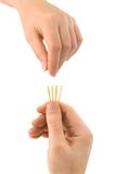 Hand And Matches - Draw Lots Royalty Free Stock Photography