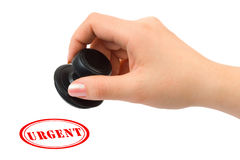 Hand And Stamp Urgent Royalty Free Stock Photos