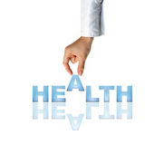 Hand And Word Health Royalty Free Stock Image