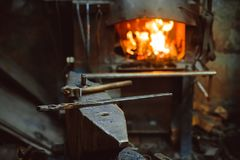 Tools in the forge Stock Images