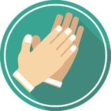 Hand applause flat icon outline. This icon ready to use for all device and platforms,can be used for several purposes like websites,print templates,illustration Stock Photography