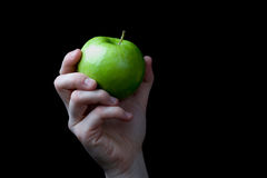 Hand Apple Stock Image