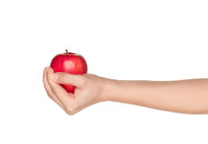 Hand with apple Stock Photography
