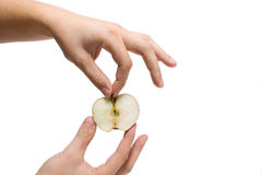 Hand and apple Royalty Free Stock Photography
