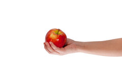 Hand with an apple Stock Image