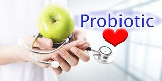 Probiotic feeding concept stock photography
