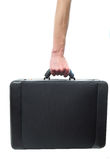 Hand and arm holding briefcase Royalty Free Stock Photos