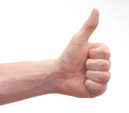 Hand and arm of a young man Stock Photography