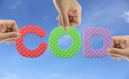Hand arrange alphabet COD of acronym Chemical oxygen demand in S Stock Image