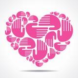 Hand arrange in heart shape. Stock Royalty Free Stock Photos